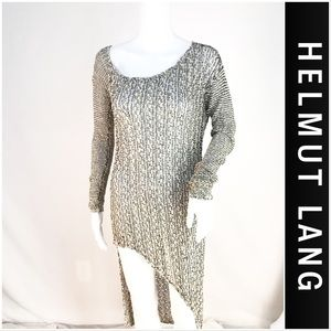 Helmut Lang Hand Knitted Asymmetrical Sweater